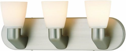 Lite Source LS-16833SS/FRO Taza 3-Lite Vanity Wall Lamp, Satin Steel
