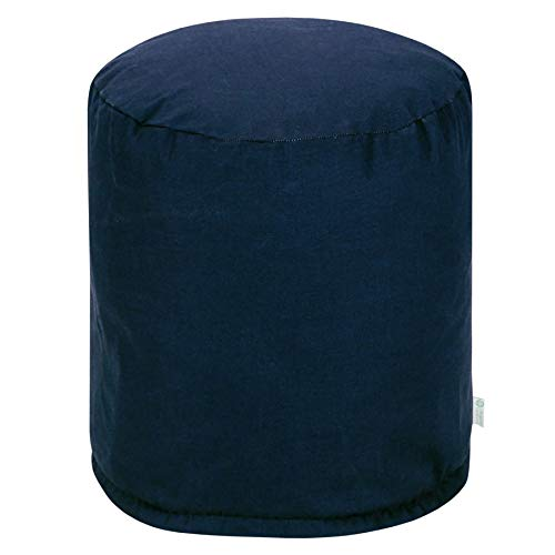 "Majestic Home Goods Navy Blue Solid Indoor/Outdoor Bean Bag Ottoman Pouf 16"" L x 16"" W x 17"" H from Majestic Home Goods"