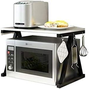 AOLI Rejilla de horno de microondas de madera de 2 niveles ...