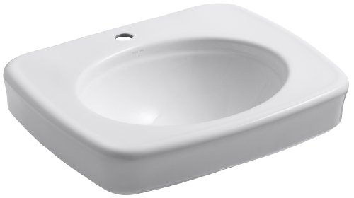 ncroft 24-Inch Bathroom Sink Basin, White (Bancroft Vitreous China Pedestal Sink)
