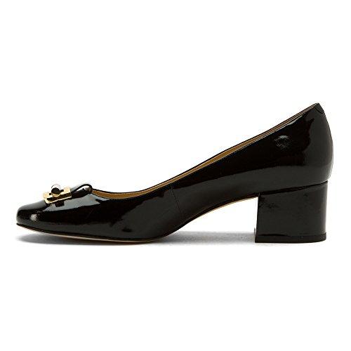 Michael Kors decolletes decoltè scarpe donna con tacco pelle gloria nero