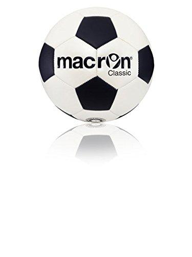 Balón fútbol entrenamiento Classic Macron, negro: Amazon.es ...