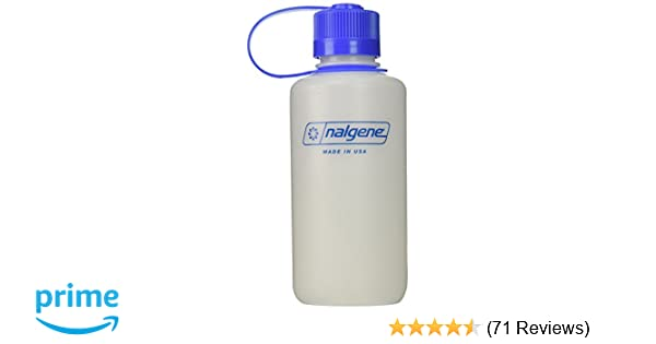 743ebf66de Amazon.com : Nalgene HDPE 16oz Narrow Mouth BPA-Free Water Bottle : Sports Water  Bottles : Sports & Outdoors