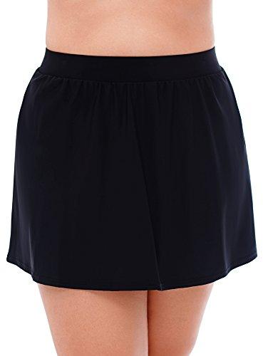Miraclesuit Women's Plus Size Swimwear Swim Skirt Slimming Bathing Suit Bottom, Black, 16W