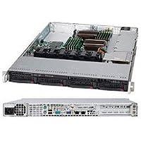Supermicro SuperChassis CSE-815TQ-600WB 600W 1U Rackmount Server Chassis (Black)