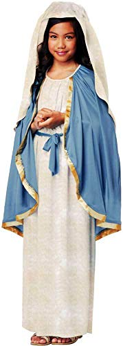 The Virgin Mary Mother Of Jesus Dress Biblical Religious Costume Child Girls -
