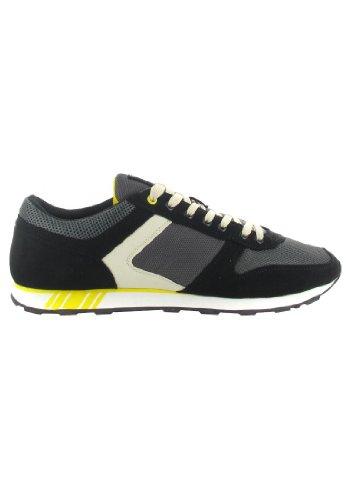Boras - Runner Sneaker Freizeitschuh Joggingschuh SCHWARZ/OFFWHITE Größe 42