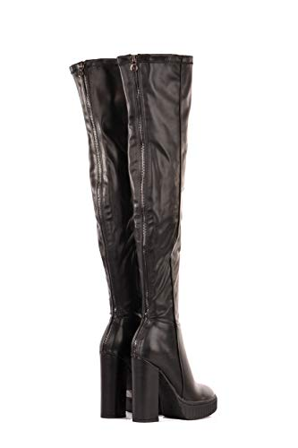 Dolores Noir Hautes Guess Femme Black Bottes Black dnBUCUqw