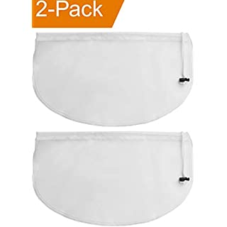 2-Pack Greek Yogurt Maker Strainer Pouch Bag, 16-in x 9-in Multi-Purpose Reusable Fine Mesh Nut Milk Bag, Cold Brew Coffee Filter Bags, Cheese Cloth for Straining, Compatible Instant Pot Accessories