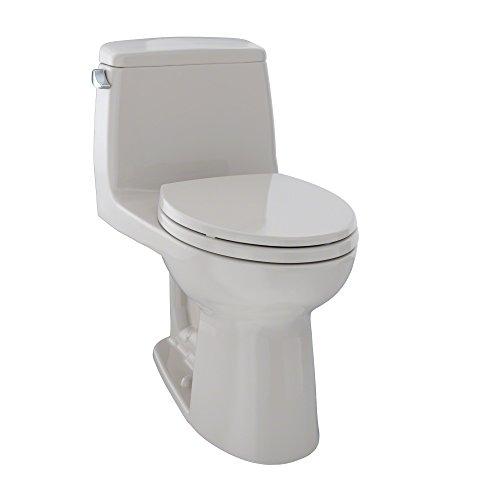 - TOTO MS854114EL#12 Eco Ultramax ADA Elongated One Piece Toilet, Sedona Beige
