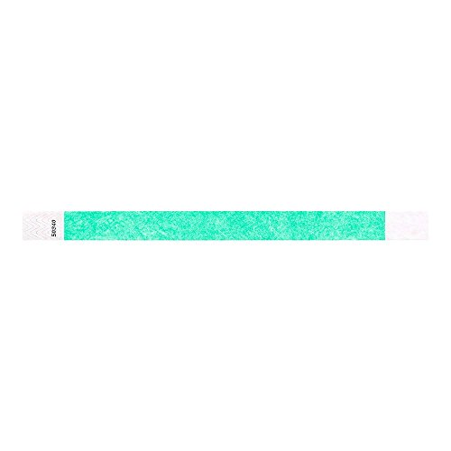 "Aqua 3/4"" Tyvek Wristbands - 500 Pack Paper Wristbands For Events Photo #2"