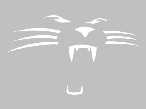 Face Panther (Carolina Panthers Face vinyl Sticker Decal (4