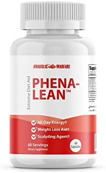 Phena-Lean Thermogenic Fat Burner Supplement by Anabolic Warfare - Aids Weight Loss Efforts, Boosts Energy and Focus (60 Capsules)