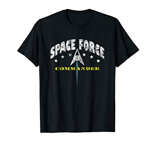 Space Force Commander T-Shirt USA Galactic Military MAGA Tee -