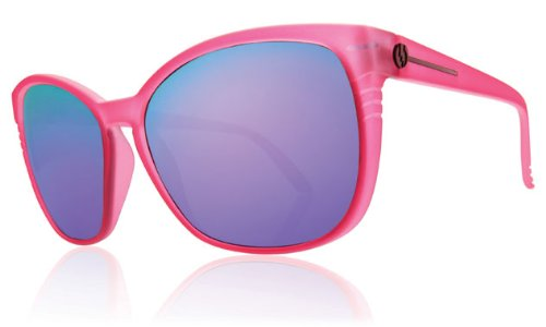 Electric Rosette Sunglasses Panther/Grey Violet Chrome, One - Panther Sunglasses Pink