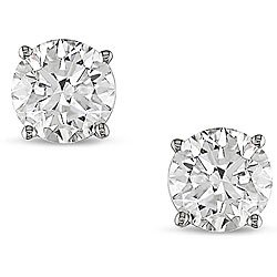 0.25 Carat (ctw) 14k White Gold Round White Diamond Studs Earrings 1/4 Ct by DazzlingRock Collection