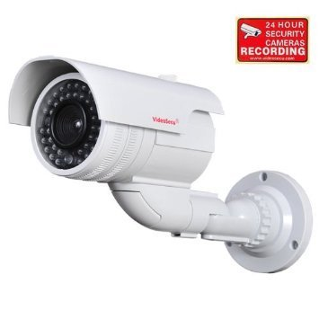 VideoSecu Dummy Fake Imitation Bullet Security Camera Simulated Decoy Infrared IR LED with Blinking Light DMYIRV2 M4V