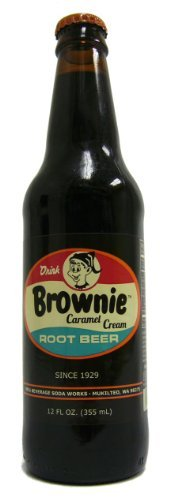 (Retro) Brownie Caramel Cream Root Beer 12 Pack by Orca Beverage ()