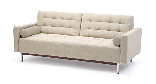 At Home USA - Bonaventura Beige Sofa Sleeper