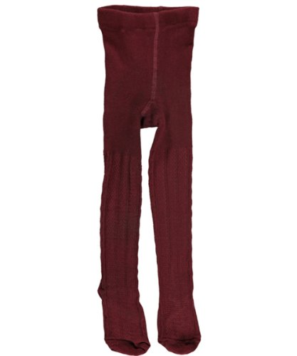 Cookie's Brand Cable Knit Tights - burgundy, 16 - (Burgundy Cable Knit)