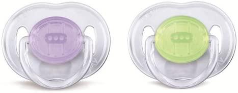 Philips Avent SCF170/18 - Chupetes (2 unidades, 0-6 meses), surtido: colores aleatorios