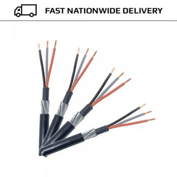 6.0mm 3 CORE SWA STEEL WIRE ARMOURED CABLE 25 MTRS: Amazon.co.uk ...