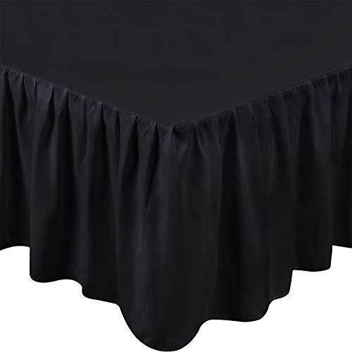 Utopia Bedding Full Bed Ruffle Skirt (Black)