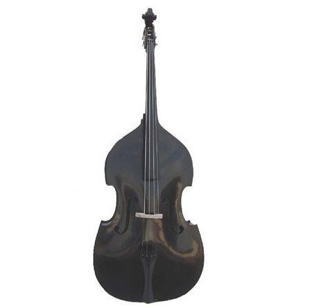 Merano MB400BK 3/4 Size Black Student String Bass with Bag and Bow+Free Rosin by Merano