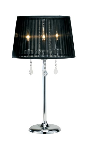 Amazoncom Adesso Cabaret Table Lamp Chrome Home Improvement - Cabaret table lamps
