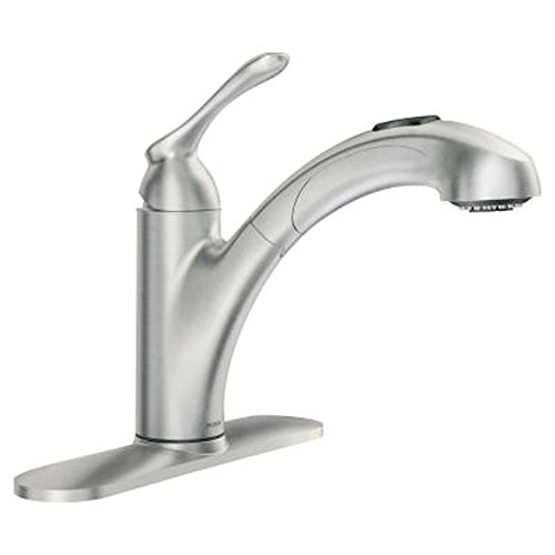Moen Premium Innovation Quality Banbury Single-Handle Pull-Out Sprayer Kitchen Faucet in Spot Resist Stainless by MOEN