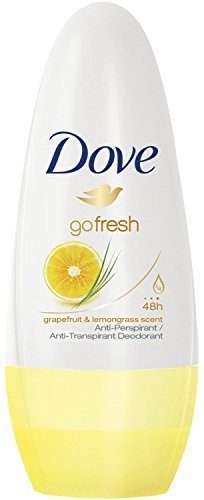 Dove Antiperspirant Deodorant Roll-On, Go Fresh Grapefruit & Lemongrass, 1.7 Oz/50 Ml (Pack of 6) ()