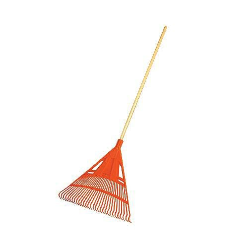 A.M. Leonard Poly Lawn Rake - 30 Inches/30 Tines, 54 Inch Wood Handle