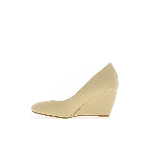 Talón de las mujeres los zapatos beige 8cm