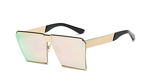 GAMT Polarized Mirrored Square Designer Sunglasses for Women Driving UV400 Cherry - How Block Rays Uv Sunglasses