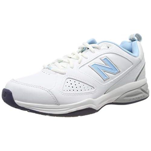 chollos oferta descuentos barato New Balance Wx624Wb4 entrenamiento correr de cuero mujer Blanco White Blue 36 EU 3 5 UK