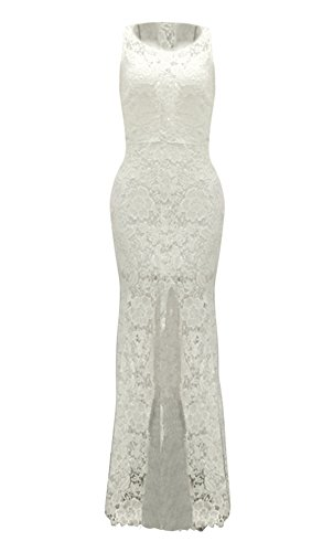 Women Lace Allonly Sexy Canonicals Dress Collar Wedding White Round HwgTRxf