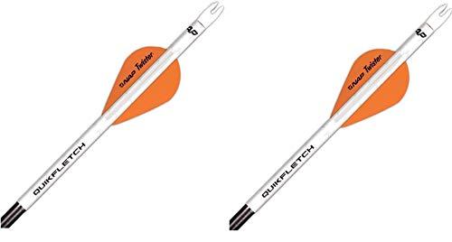Archery Products 60-637 6-Pack 2-Inch Quickfletch Twister Vanes (White/Orange)