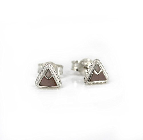 Sterling Silver Stone Inlay Triangle Everyday