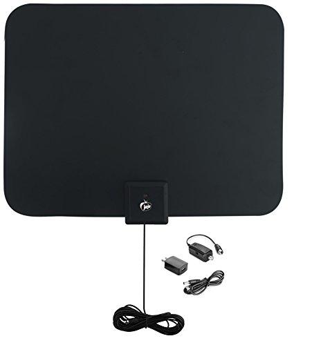 Jeje 50 Mile Flat HD Digital Indoor Amplified TV Antenna ...