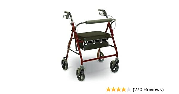 8220a6f24d38 Amazon.com  4 Wheel Rolling Walker with Shopping Basket