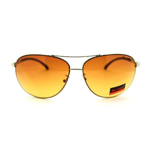 Silver HD Vision Aviator - Aviator Sunglasses Hd