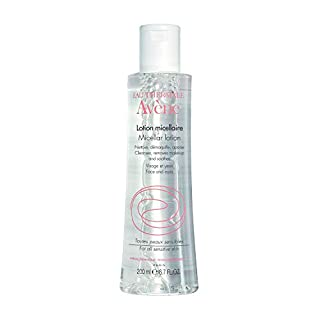 Eau Thermale Avene Micellar Lotion Cleansing Water, Toner, Make-up Remover for All Skin Types, 6.7 fl. oz.