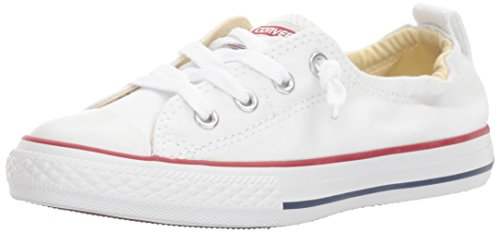 Girls Converse All Stars (Converse Girls' Chuck Taylor All Star Shoreline Sneaker, White, 4 M US Big)
