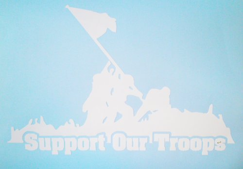 - Support Our Troops White Vinyl Sticker by U.S. Custom Ink