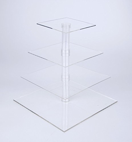 Saganizer 4 tiered cake stand, wedding cake stands for cakes and cupcakes, strong and stable cup cake stand