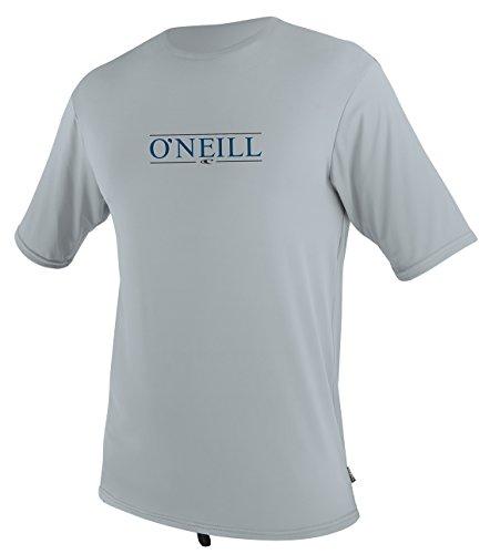 ONeill Mens Premium Skins UPF 50+ Short Sleeve Sun Shirt, Cool Grey, Large