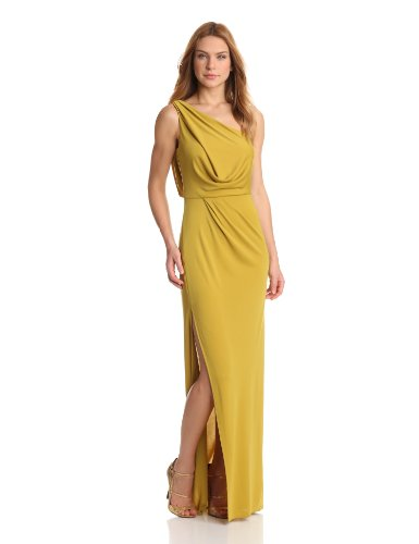0fee2860e5 Amazon.com  BCBGMAXAZRIA Women s Snejana One Shoulder Slit Evening Gown   Clothing