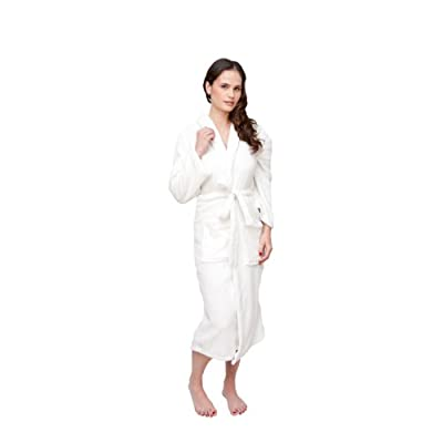 White Wrapped In A Cloud Women's Plush Spa Bathrobe