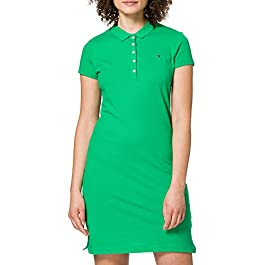 Tommy Hilfiger Women's Slim Short Polo Dress Ss Casual