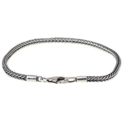 7.5 Inch Sterling Silver Cord European Chain Bracelet Fits Pandora/biagi/troll/chamilia Beads & Charms